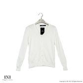【INI】四季舒適、輕薄舒適織紋針織外套.白色