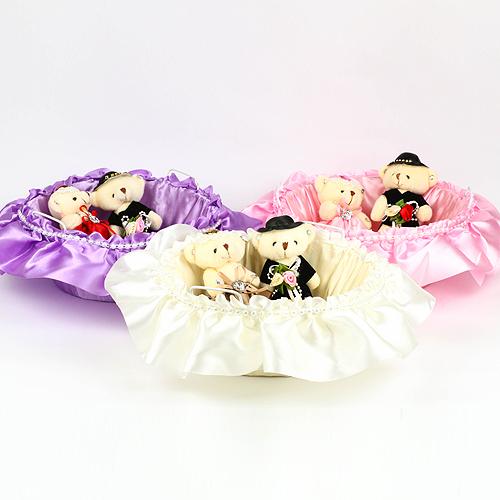 幸福婚禮小物❤浪漫玫瑰送客喜糖籃(大)❤喜糖籃/喜糖盤/婚禮用品