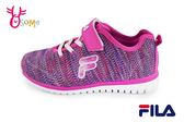 FILA 運動鞋 女童 中大童 記憶鞋墊 針織 慢跑鞋 O7641#紫色◆OSOME奧森童鞋