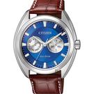 CITIZEN 星辰 Eco-Drive光動能日曆手錶-藍/ 43mm BU4011-11L