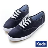 KEDS 品牌經典休閒鞋 海軍藍 W110004 女鞋 綁帶│平底│帆布