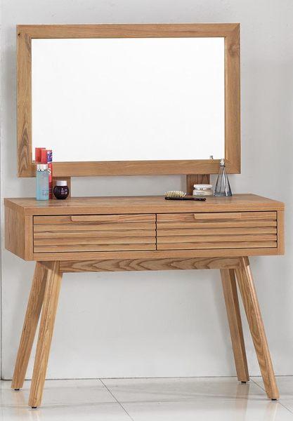 【森可家居】悠晴鏡台(上下座)(不含椅) 7JX49-4 梳化妝檯 木紋質感 無印 北歐 鄉村風