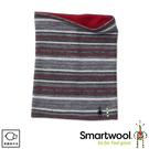 【SmartWool 美國 NTS 250雙面兩用印花短頸套《炭灰/紅》】SW0SC913/圍巾/脖圍