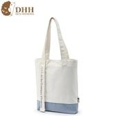 DHH日系韓版文藝小清新白色帆布包女單肩包韓國學生簡約搭手提袋