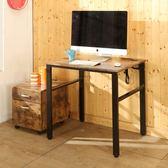 80CM工業風低甲醛穩重型工作桌(附插座) 電腦桌 書桌 辦公桌 學生桌 I-B-DE077ZH 澄境