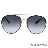GUCCI 墨鏡 GG0351S 001 (金-亮粉紅) 雙槓 飛行員款 太陽眼鏡 久必大眼鏡