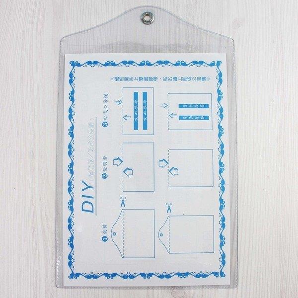 A4 吊式透明套 信億 證書吊袋 (直式)/一包12個入(定35) PVC透明公告欄袋 證書袋 Trust 225mm x 310mm