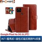 【默肯國際】IN7瘋馬紋 Google Pixel 4a 5G (6.2吋) 錢包式 磁扣側掀PU皮套 手機皮套保護殼