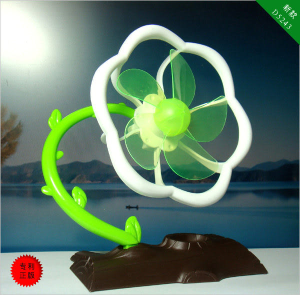 ◆No302花朵USB風扇/USB風扇/USB孔供電/低噪音設計/USB插頭/電腦散熱