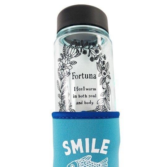 透明隨身冷水瓶 附水壺套 350ml (3款隨機)