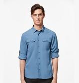 [速捷戶外] WildLand荒野 W1208 男可調節抗UV襯衫,登山 旅遊 城市休閒服飾