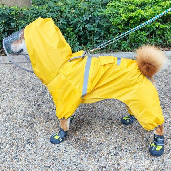 狗狗雨衣-泰迪狗狗雨衣四腳防水寵物用品衣服春夏裝比熊雪納瑞柴犬雨衣全包 多麗絲旗艦店