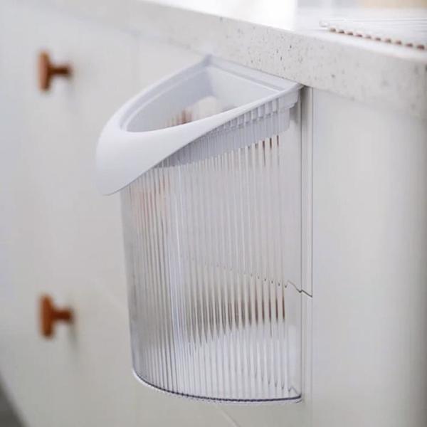 EDITOR01小光垃圾桶廚房掛壁式高顏值廚余塑料收納桶輕便簡約北歐 「韓美e站」
