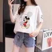 短袖T恤女M-2XL6003#卡通韓版短袖通勤時尚字母動漫印花寬松短袖T恤女潮上衣N619快時尚