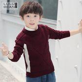 毛衣-童裝男童高領毛衣新款兒童針織衫套頭秋冬款中大童韓版打底衫 依夏嚴選