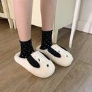 日韓學生可愛卡通棉拖鞋女冬室內居家用保暖毛毛拖兒童