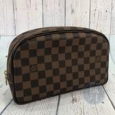 BRAND楓月 LOUIS VUITTON N47624 棋盤格 大包 手拿包 盥洗包 化妝包 隨身包
