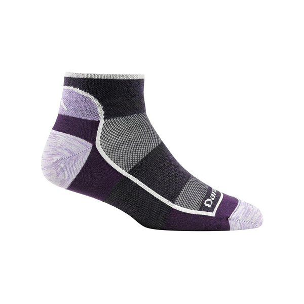 [DARN TOUGH] (女) SOLID 1/4 SOCK LIGHT 休閒短襪 活力紫 (DT1709-WT)