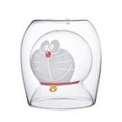 【正版授權】哆啦A夢 雙層玻璃杯 200ml 透明水杯 玻璃杯 雙層杯 杯子 小叮噹 DORAEMON - 004407