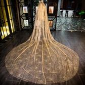 閃閃頭紗超長拖尾婚紗新娘結婚頭紗