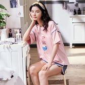 【預購款】居家服夏季新款純棉睡衣套裝女短袖短褲甜美兩件套可外穿8898#【時尚潮流部落】
