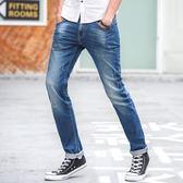 618好康鉅惠春季薄款青少年修身直筒牛仔褲男彈力小腳褲
