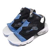 Reebok 涼拖鞋 Insta Pump Fury Sandal 涼鞋 OG 配色 藍 黑 白底 女鞋 【ACS】 EF2913