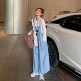 吊帶褲 高腰薄款休閒褲女夏季2020新款韓版寬鬆闊腿褲百搭直筒網紅吊帶褲 韓國時尚週
