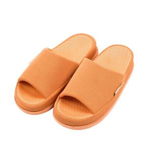 樂嫚妮 穴道按摩室內拖鞋-腎臟-女款穴道拖鞋-女橘紅