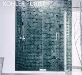 【麗室衛浴】美國KOHLER  PURIST系列 K-99167T-C-SHP 一字型 一固一活 二片式 尺寸150*H190CM