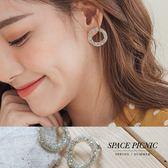耳環 Space Picnic|現+預.閃亮軟圓圈設計復古耳針【C18072005】