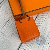BRAND楓月 HERMES愛馬仕 D刻 經典 橘色 小提袋 ORANGE BAG 吊飾 皮件 配件 包包掛件