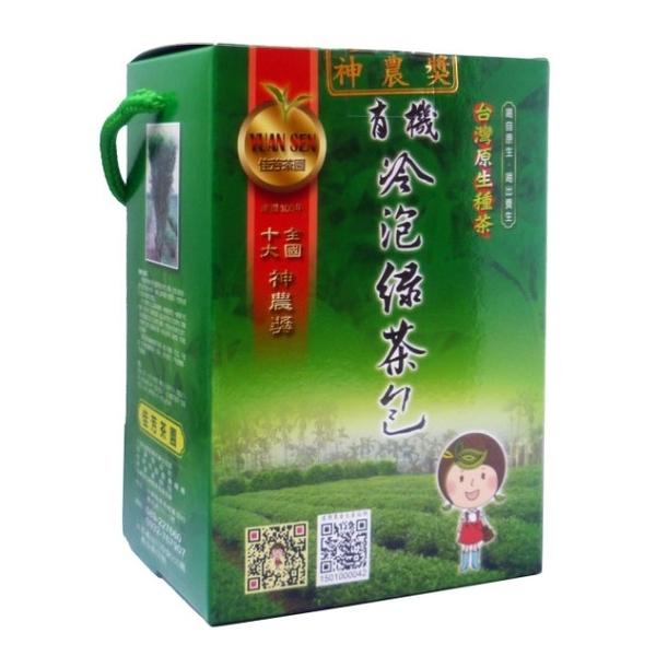 佳芳茶園~有機冷泡綠茶包3公克×30包/盒~特惠中~
