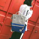 後背包-線條配色大開口質感後背包-6221- J II