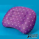 【PolarStar】旅行吹氣枕『紫』P17736 露營.戶外.充氣枕.午睡枕.旅行.飛機.靠腰枕.辦公室