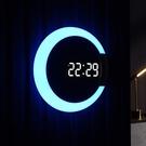 LED夜光電子時鐘掛墻掛鐘客廳家用時尚創意鬧鐘輕奢簡約鐘表掛表