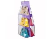 大容量衣櫃懸掛式 6層透視包包收納袋 6格皮包收納掛袋 5色可選【SA150】《約翰家庭百貨