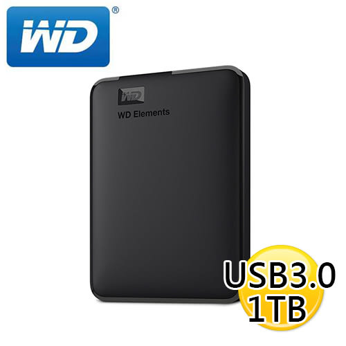 【慶端午6/14-6/19 下殺】 WD Elements 1TB USB3.0 2.5吋 行動硬碟 外接硬碟