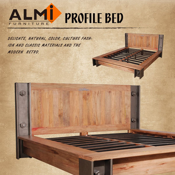 【ALMI】PROFILE-BED 154X192 工業風雙人床