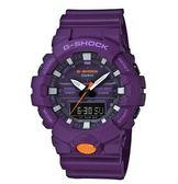 CASIO 卡西歐 G-SHOCK 城市輕薄時尚三指針數碼顯示運動腕錶 GA-800SC-6A