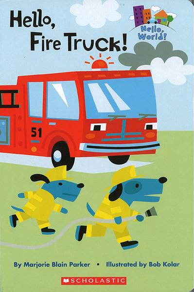 CP值超高【幼兒交通工具認知讀本】HELLO FIRE TRUCK/讀本厚紙版《主題: 消防車》
