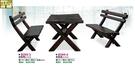 [ 家事達 ]DF- B295-3/4  實木長車桌椅組-4尺 (1桌2椅)   特價 已組裝 限送中部