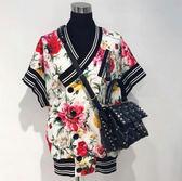 ★專櫃42折! Dolce&Gabbana 花卉短袖修身襯衫 IT 38 /40