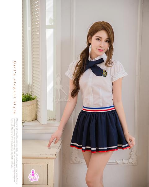 角色扮演 純真愛戀風三件式高校制服學生角色服 NA16030076
