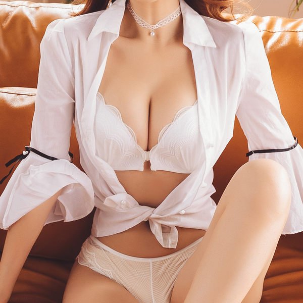 前扣美背內衣褲 無鋼圈爆乳 性感露背穿搭 沁甜美姬 曼哈頓(白)