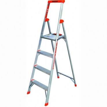 小巨人4階簡捷梯-6尺 含安全扶手和寬踏板 荷重110kg