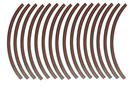 光陽原廠精品 12吋3M輪圈反光貼紙