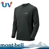 【Mont-Bell 日本 男款 WICKRON ZEO 長袖排汗T恤《深灰》】1104938/圓領長袖/休閒衫/防曬