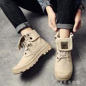 潮男帆布鞋高幫秋季潮流韓版個性高邦板鞋青少年百搭學生休閒鞋子 千千女鞋