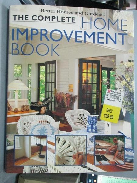 【書寶二手書T4/設計_ZJS】Complete Home Improvement Book